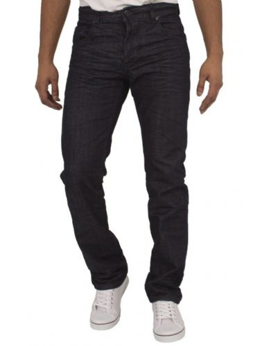 ETO EM519 Men's Designer Dark Blue Double Stitching Denim Stright Tapered Fit